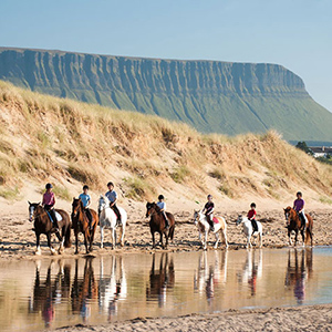 Horse riding near Benbulben