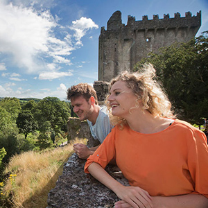 Honeymooners at Blarney Castle