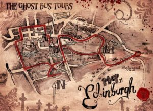 The route of Edinburgh's Ghost Bus Tour
