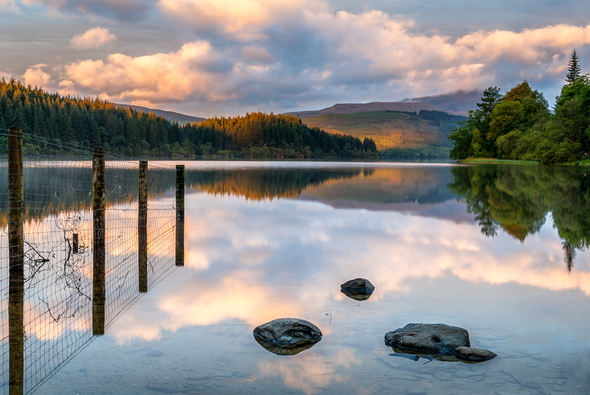 Loch Ard in The Trossachs at Sunrise