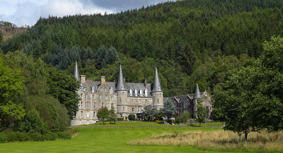Tigh Mor, once the holiday home of Queen Victoria overlooking Loch Katrine in The Trossachs