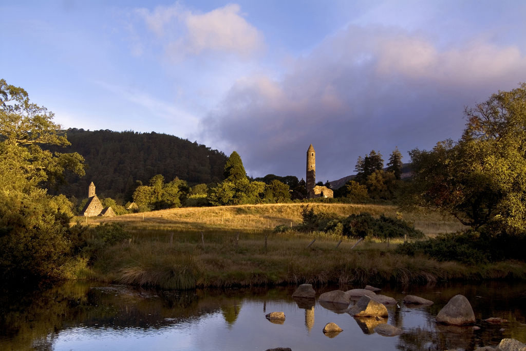 The 6th century monastic site at Glendalough, County Wicklow