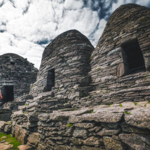 Beehive monastic buildings on Skellig Michael (Image @storytravelers)